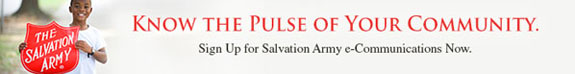 Salvation Army Northeast Ohio Email Signup